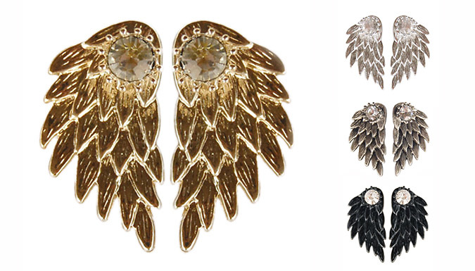Angel Wing Double Stud Earrings - 4 Styles
