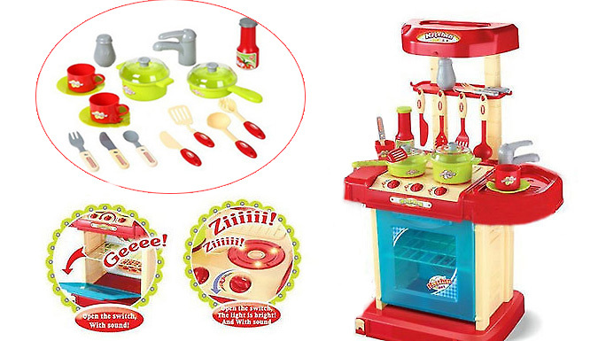 29Piece Kids Kitchen Play Set