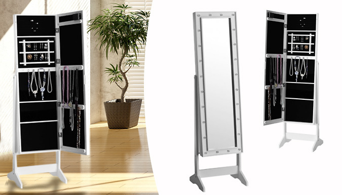 LED Mirrored Jewellery Cabinet