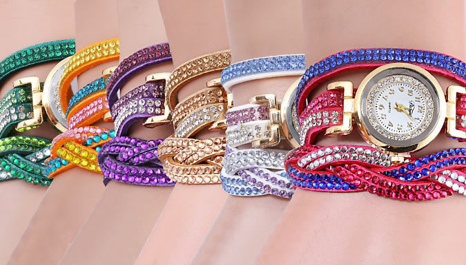 Swarovski Elements Leah Wrap Watches  6 Colours