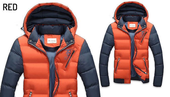 Men's Hooded Puffer Jacket - 6 Colours
