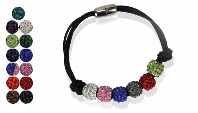Crystal Ball Bracelet - 12 Colours