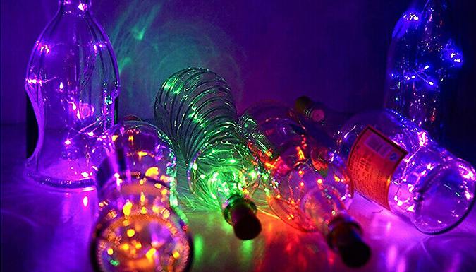 String of 20 LED Bottle Lights - 7 Colours