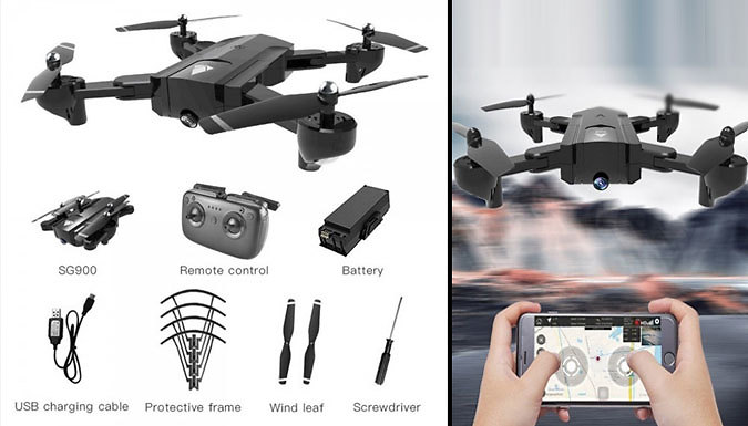 Drone Quadcopter - 2 Colours, Optional 720P Camera & Battery Sizes