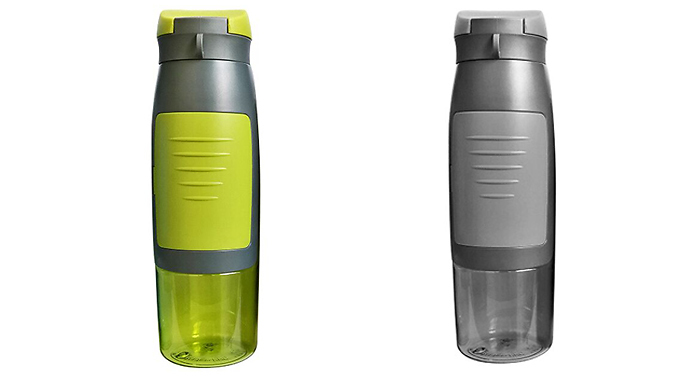 2-in-1 Water Bottle with Storage Compartment - 4 Colours