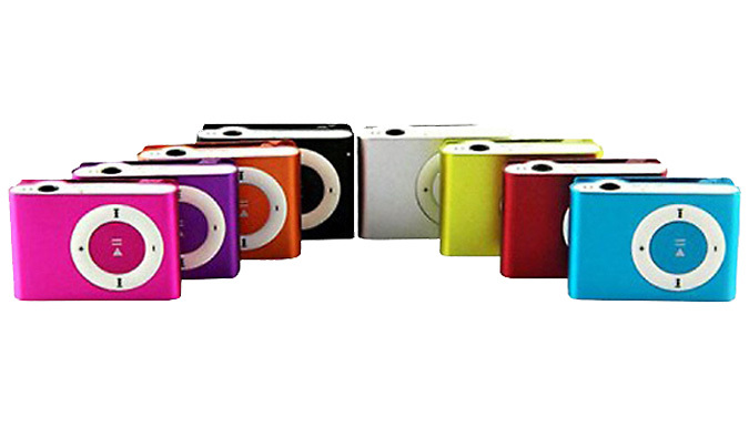 Up to 8GB Shuffle MP3 Player  8 Colours