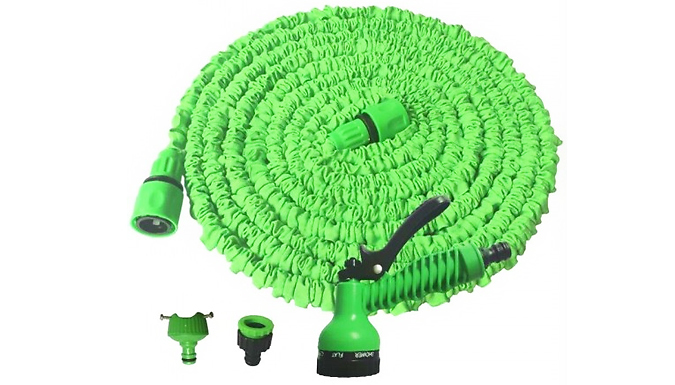 50, 75 or 100ft Expanding Garden Spray Hose - 3 Colours from GoGroopie