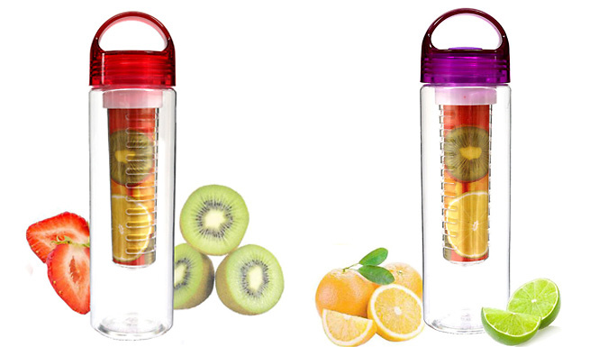 Eco-Friendly Fruit Infuser Bottle - 6 Colours