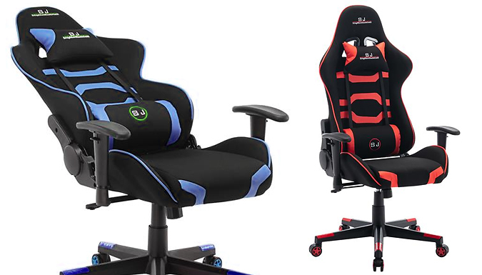 Adjustable Gaming Desk Chair - Red or Blue