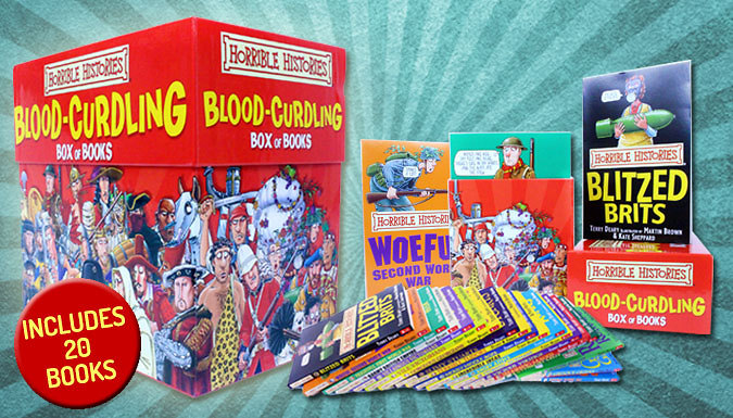20 Book Set - Horrible Histories 'Blood Curdling' Collection