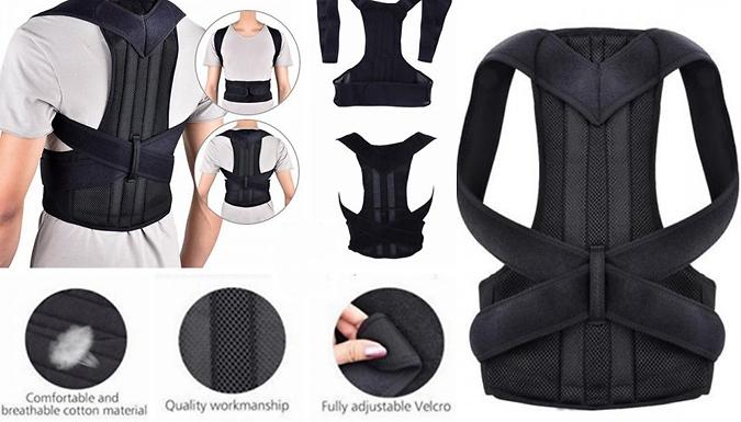 Back Correction and Shoulder Support Belt - 4 Sizes