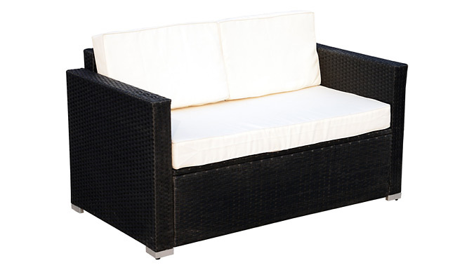 4-Piece Rattan Sofa Set + Cushions (£269)