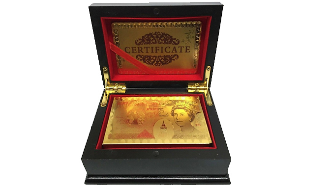 Gold-Plated Playing Cards With Presentation Box - 2 Styles