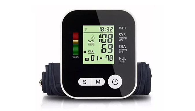 4-in-1 Blood Pressure Monitor with LCD Display