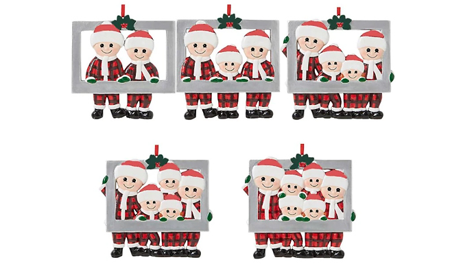 Christmas Family Photo Frame Ornament - 5 Options