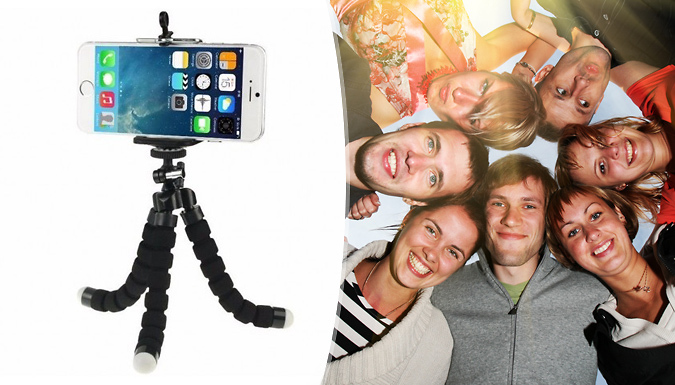 TigerZilla Mini Tripod Stand with Camera Mount Grip Holder