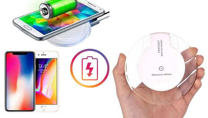 Fast Qi Wireless Charger Dock Pad - 2 Colours