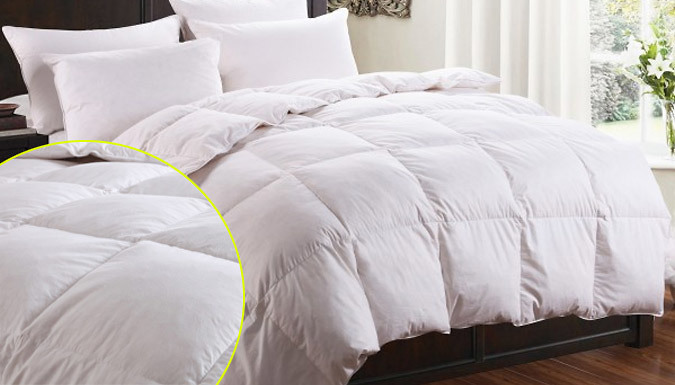 13.5 Tog Natural Duck Down and Feather Duvet - 4 Sizes
