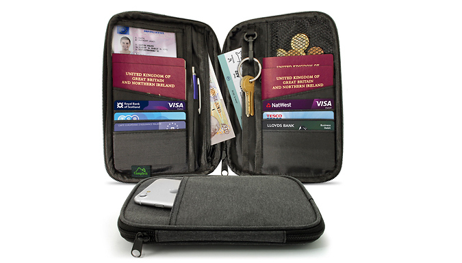 Zip-Up Passport Holder and RFID Wallet from Home Vibe