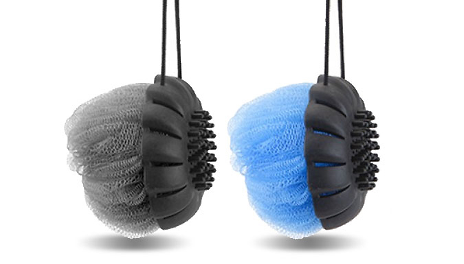 2-Pack of Mr. Massaging Loofah Ball On Rope from Ebeez