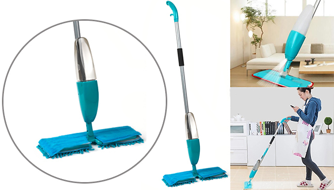 Double Sided Spray Mop With 550ml Water Spray
