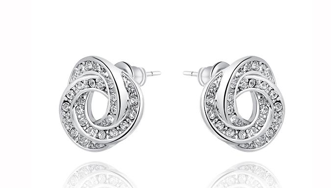 Swarovski Elements Kitty Stud Earrings
