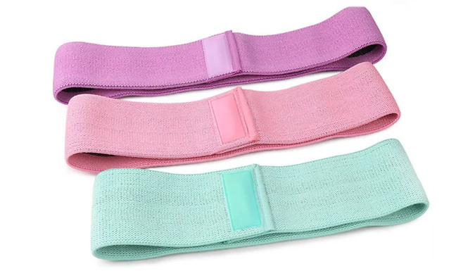 3-Pack of Fabric Resistance Bands