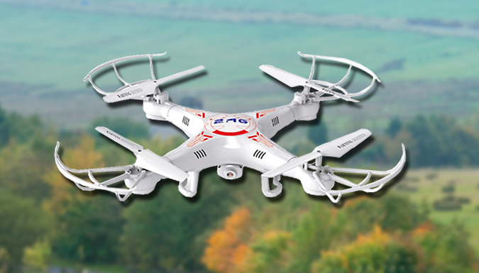 2.4G RC Drone with up to 60mins flight time. Extras: HD Camera, Spare Batteries & Multi Chargers