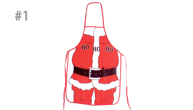 1 or 2 Christmas Kitchen Aprons - 6 Designs