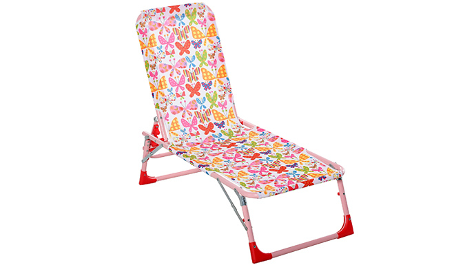 Outsunny Kids Reclining Foldable Sun Lounger - 2 Colours