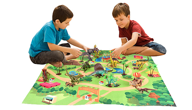 Dinosaur World Play Mat & Toy Set