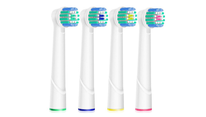 4-Piece Oral B Compatible Electric Toothbrush Head Set
