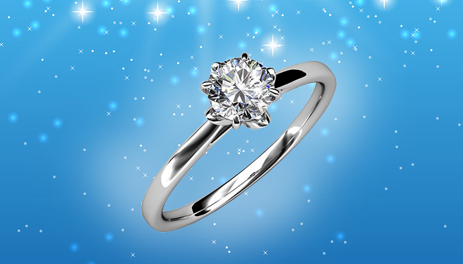 Swarovski Elements Sweetheart Adjustable Crystal Ring