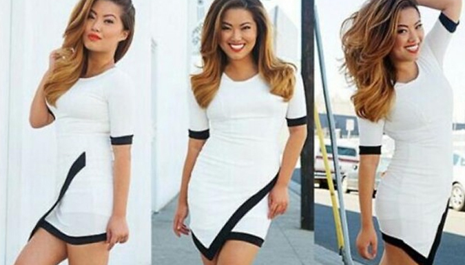 Bodycon Asymmetric Mini Dress - 3 Colours