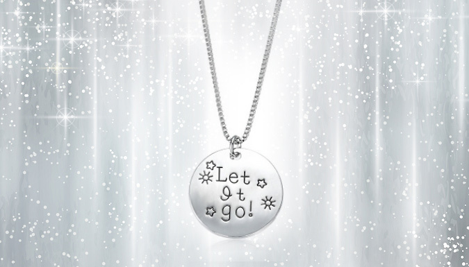 Silver-Coloured 'Let It Go' Necklace