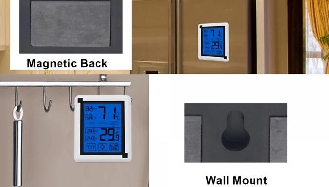 Indoor & Outdoor Touchscreen Hygrometer - 2 Colours