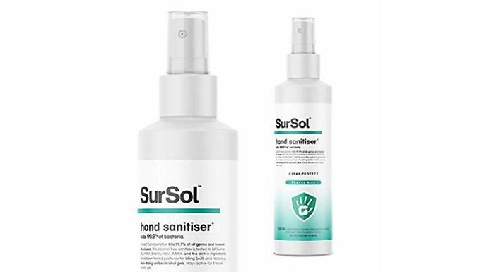SurSol Hand Sanitiser 250ml - 1or 2 Pack from Hirix International Ltd