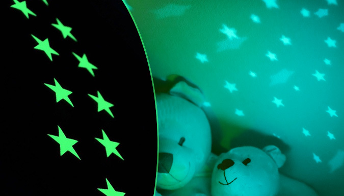Image of 100 Glow-In-The-Dark Star Stickers