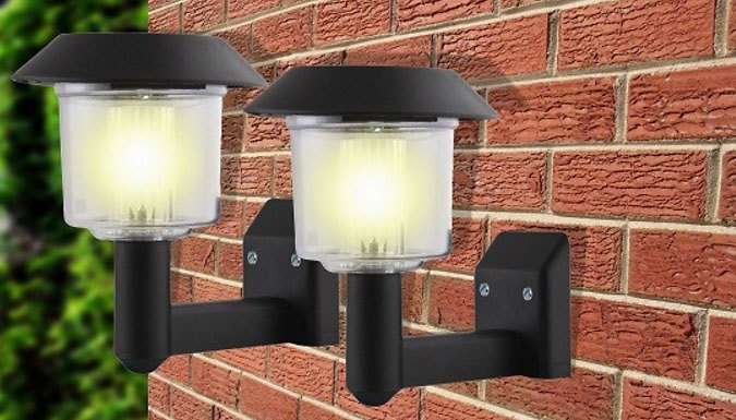 Wall Lights For Large Spaces : Hot UK Shopping Deals Sales Bargains Discounts: New UK Deal: Buy Solar-Powered Wall Lights - 2 ...