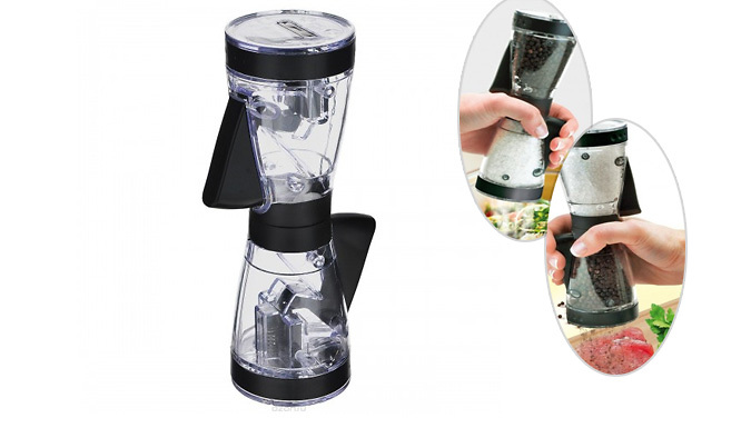 DDDeals - Dual Action Salt and Pepper Grinder - Buy 1 or 2