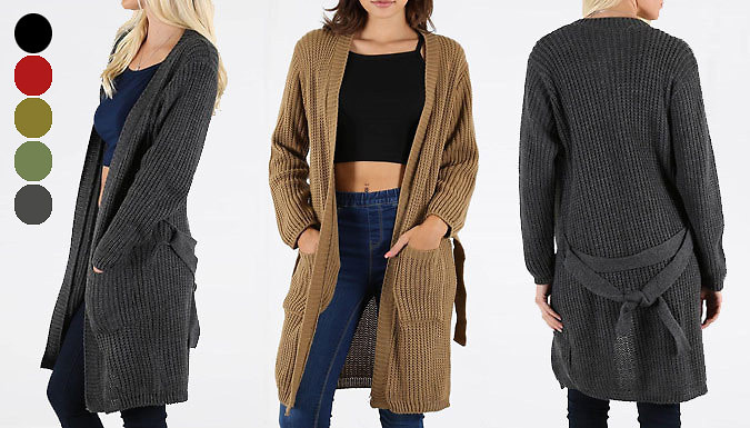 DDDeals - Knitted Belted Cardigan - 5 Colours
