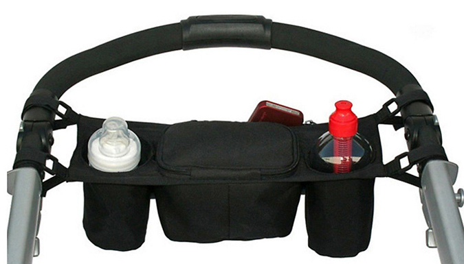 Baby Buggy Organiser with Cup & Bottle Holders - 2 Colours from Snap One Up
