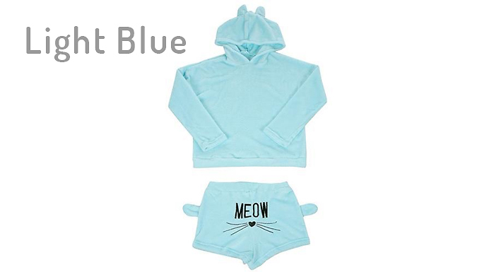 Compare retail prices of 'Meow' Hooded Kitty Pyjamas - 7 Colours & 6 Sizes to get the best deal online