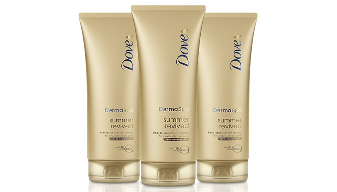 6 x Dove Summer Revived Lotion 200ml - Fair or Dark from Ebeez