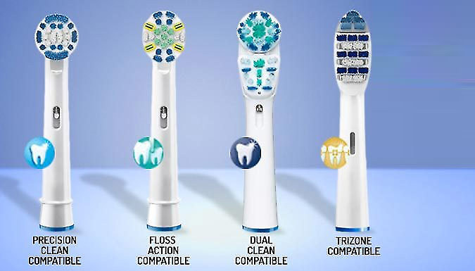 Replacement Toothbrush Heads - 4, 8, 16 or 32
