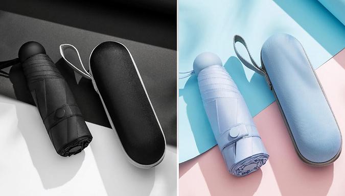 Mini Umbrella & Capsule Case - 7 Colours