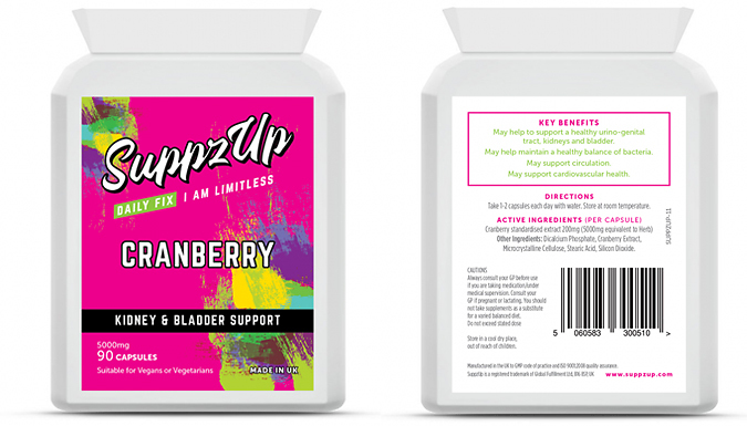 3 Month Supply of Cranberry Capsules - 90 Capsules!