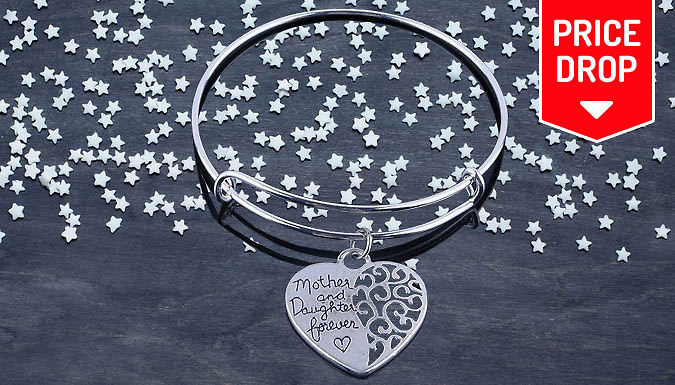 Silver Plated Mother and Daughter Bracelet