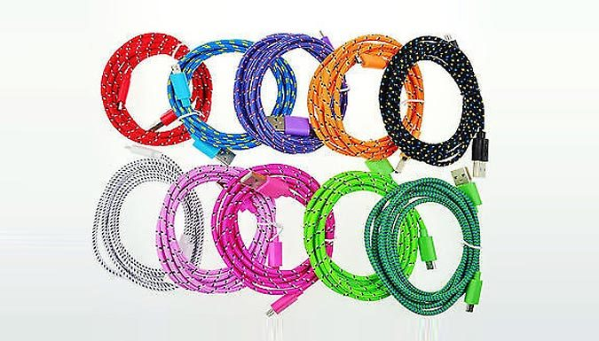 FabricBraided Micro USB Sync Charger Cable Sony LG S3