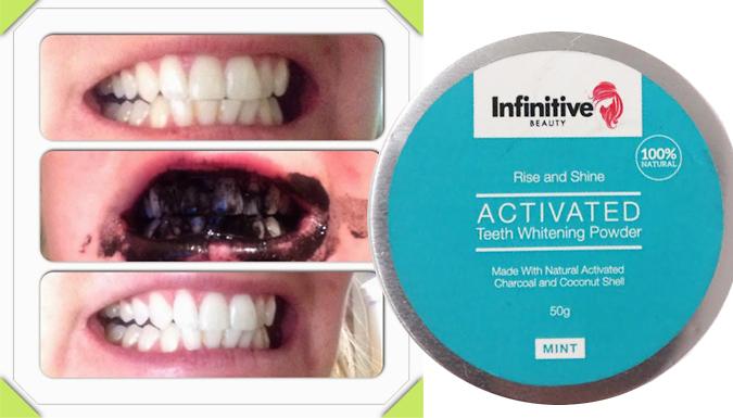 Advanced Charcoal Teeth-Whitening Powder & Bamboo Charcoal Brush